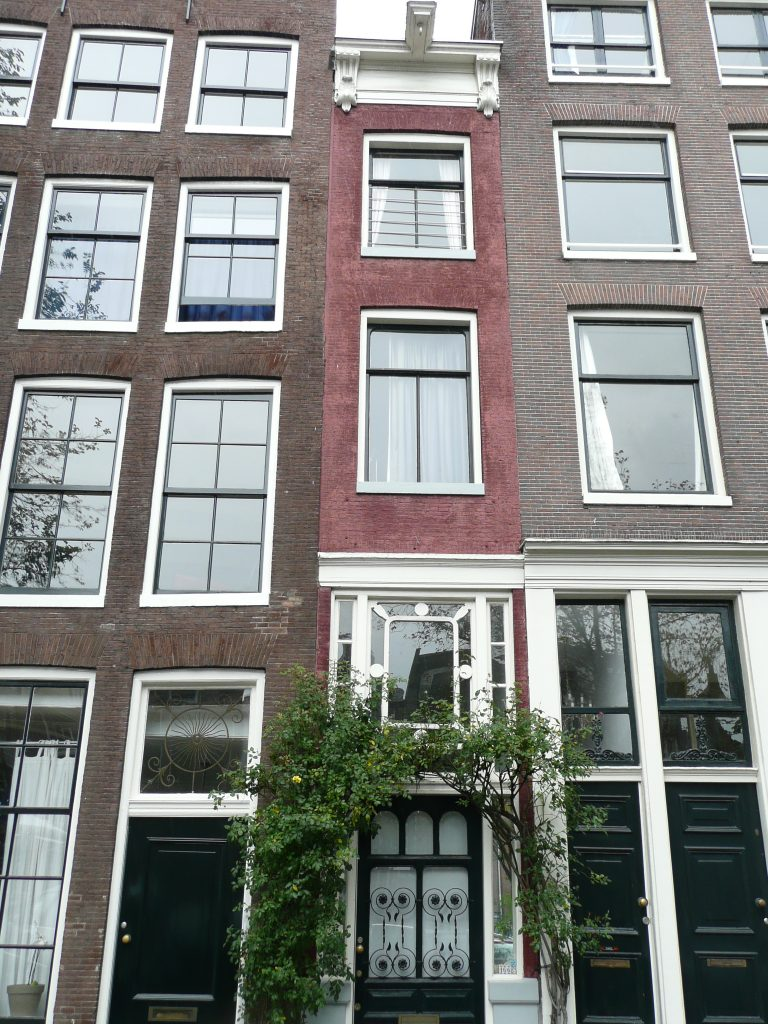 One of the narrowest canal houses in Amsterdam