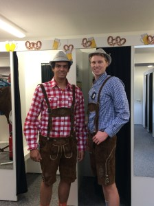 Lederhosen always looks good with plaid shirts - Köln, Germany