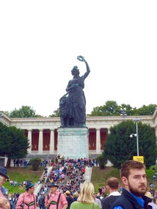 Once you reach this statue in the back of the grounds, you've made it all the way through Oktoberfest! - Munich, Germany
