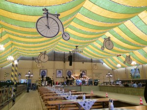 The tents in Historical Oktoberfest are not as full as the tents in the main part - Munich, Oktoberfest