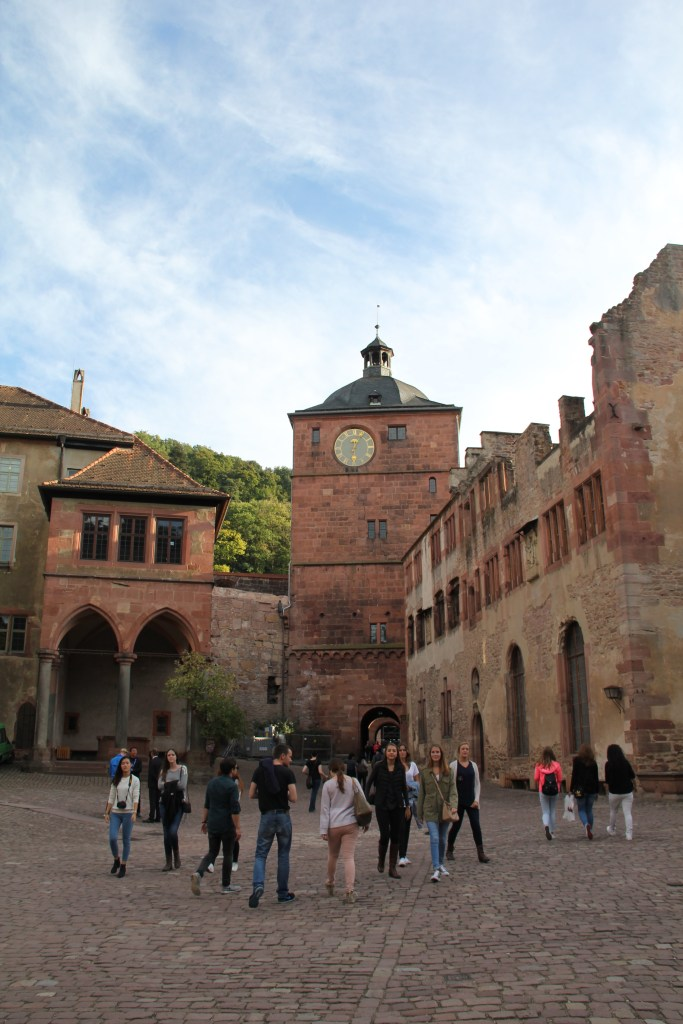 Inside the castle courtyard - Heidelberg, Germany
