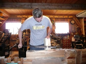 Inside the workshop where wooden clogs are made - Zaanse Schans, Netherlands