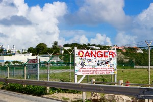 Danger signs don't even faze me any more - Maho Beach, St. Maarten