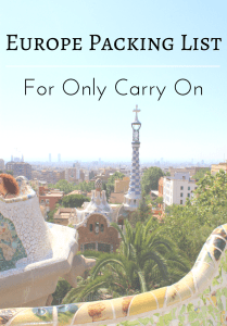 Europe Packing List for Only Carry On - The Traveling Storygirl