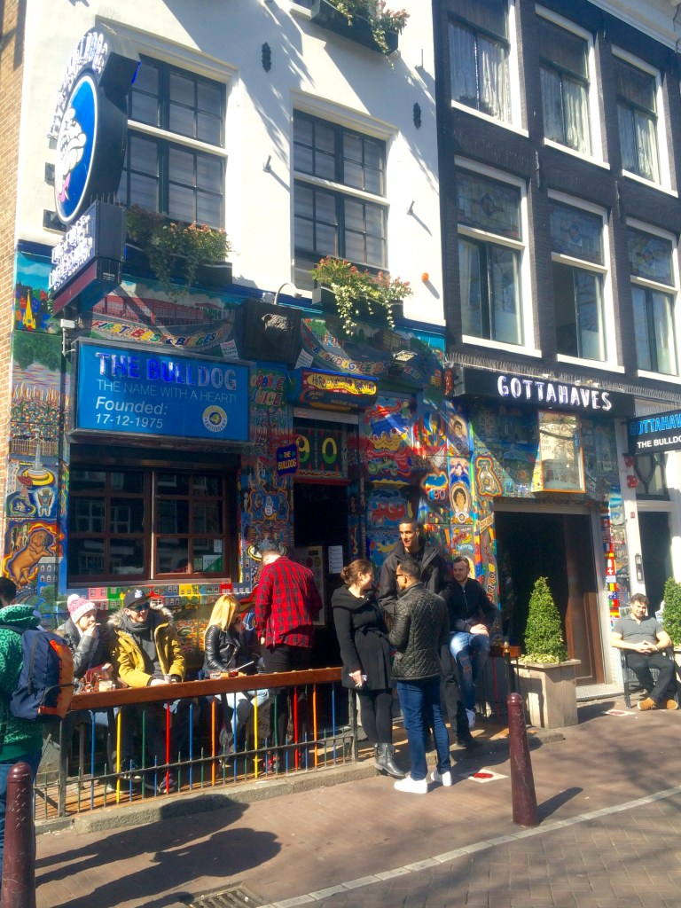 Lots of coffeeshop tours stop here on an Amsterdam tour of the coffeehouses