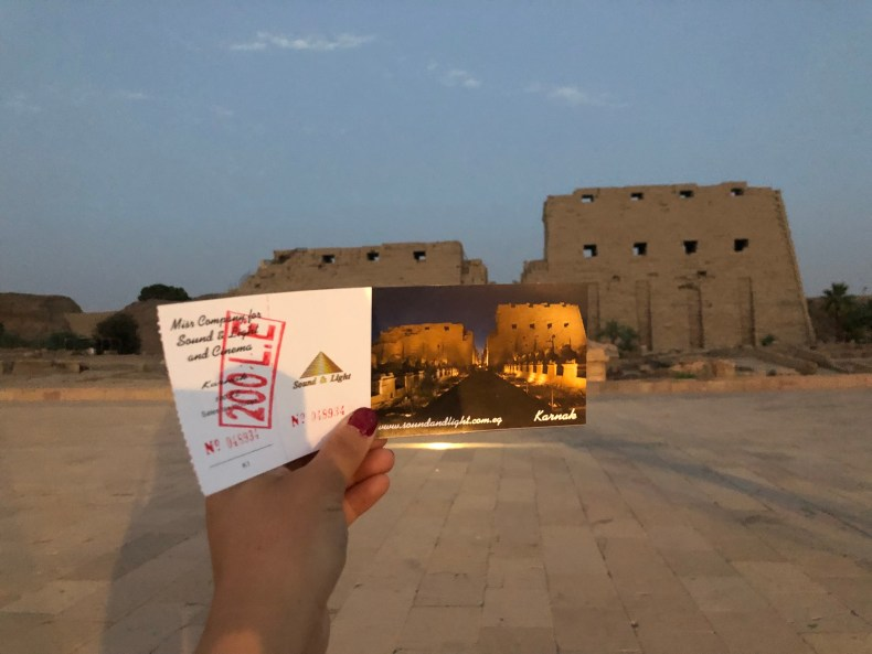 Try to get the student discount at Karnak Temple if you can!