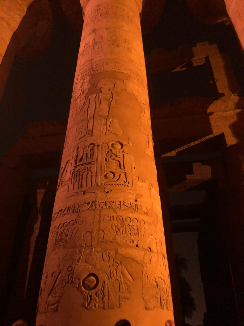The hieroglyphics on the columns at Luxor are still in such excellent condition it's amazing!