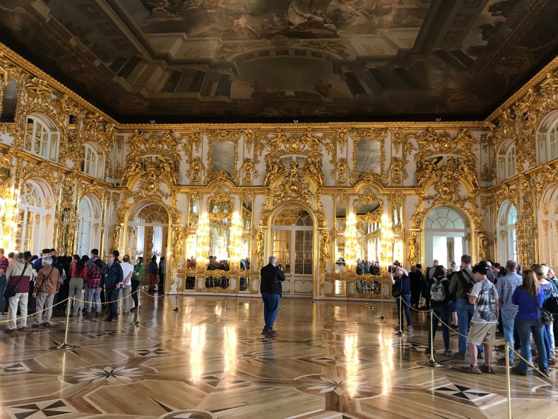 Catherine's Palace in St. Petersburg Russia