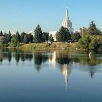 Idaho Falls Greenbelt and Mormon Temple