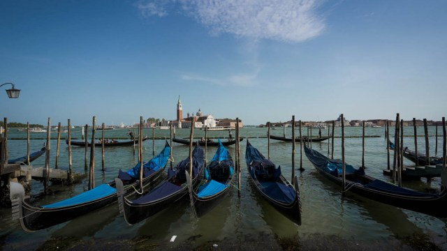 Gondolas - Venice - eurail pass guide