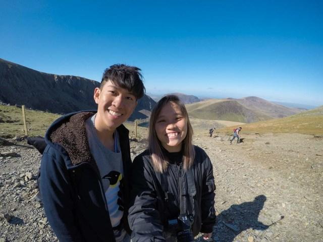 Group Shot at Snowdon Mountain - Scotland Wales London Itinerary BritRail Pass