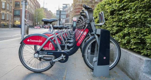 Santander Cycles Rental Bicycles - Scotland Wales London Itinerary BritRail Pass