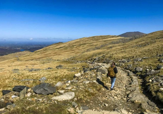 The Hike Down from Clogwyn to Llanberis - Scotland Wales London Itinerary BritRail Pass