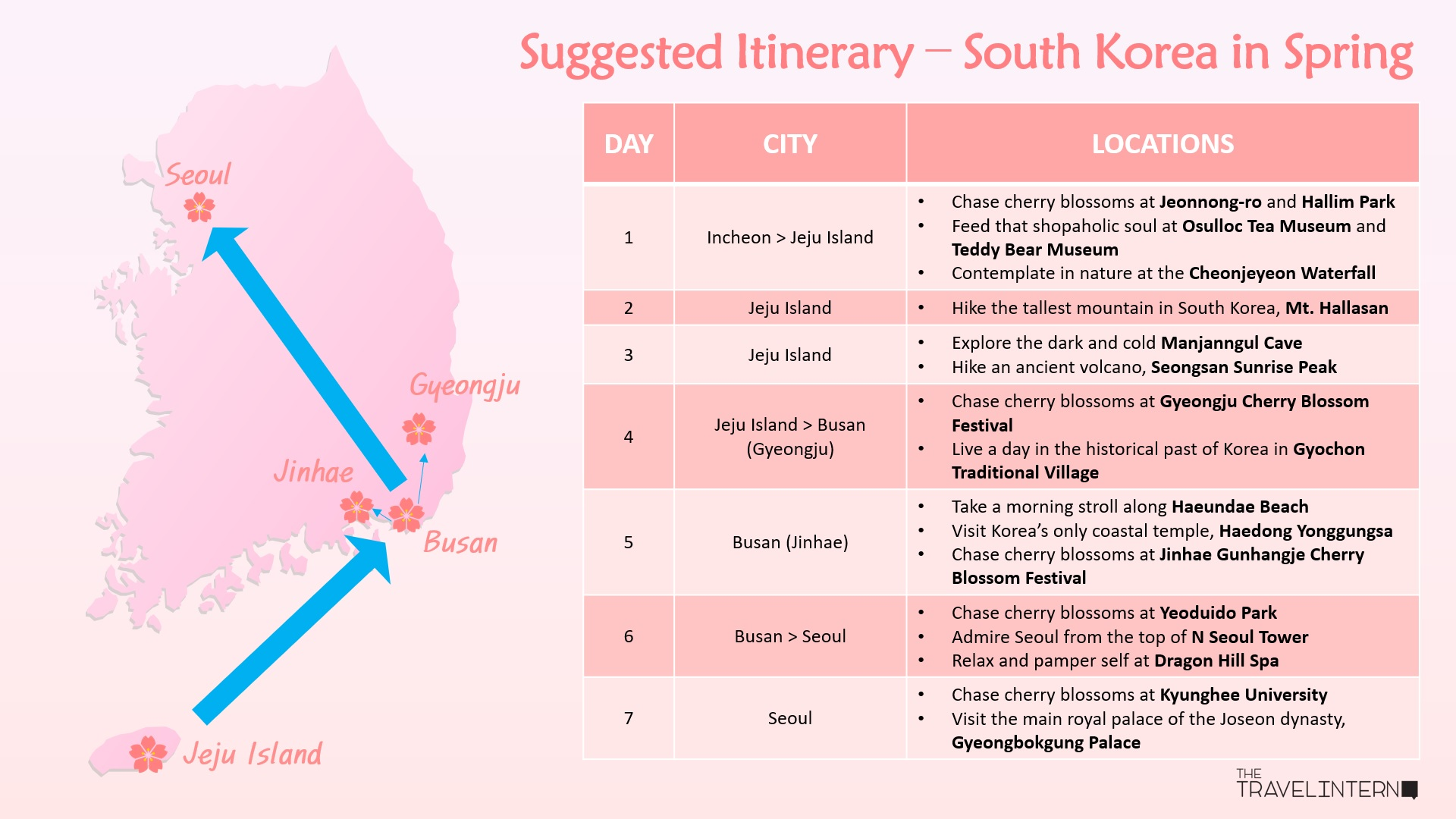 hight resolution of south korean cities with the best cherry blossoms