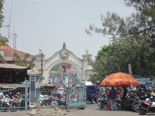 Entrance to the market near kraton (palace) in Solo.