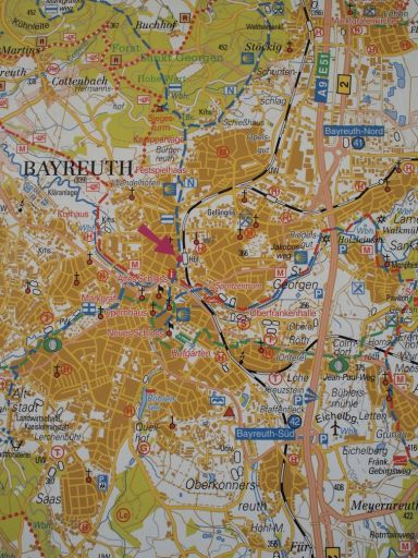 Map of Bayreuth