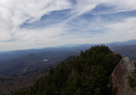 Grandfather Mountain Panorama, North Carolina, America