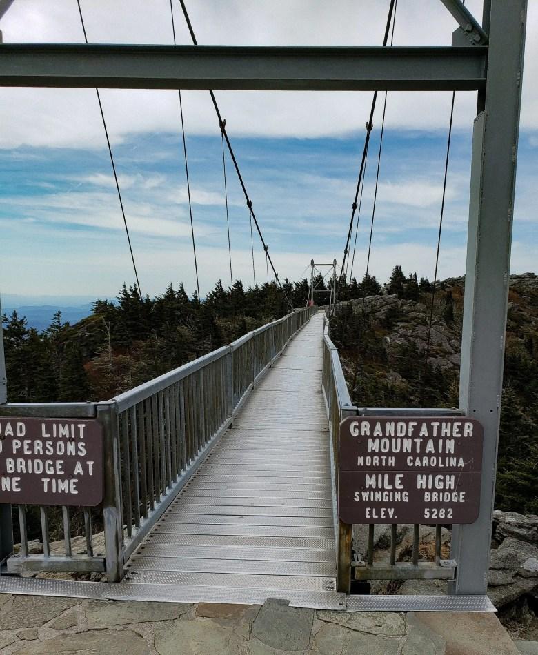 Mile High Swinging Bridge, Grandfather Mountain State Park