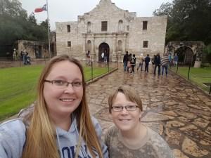 Outside the Alamo