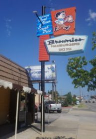 Brownies Hamburgers sign