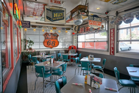 Inside of Route 66 diner