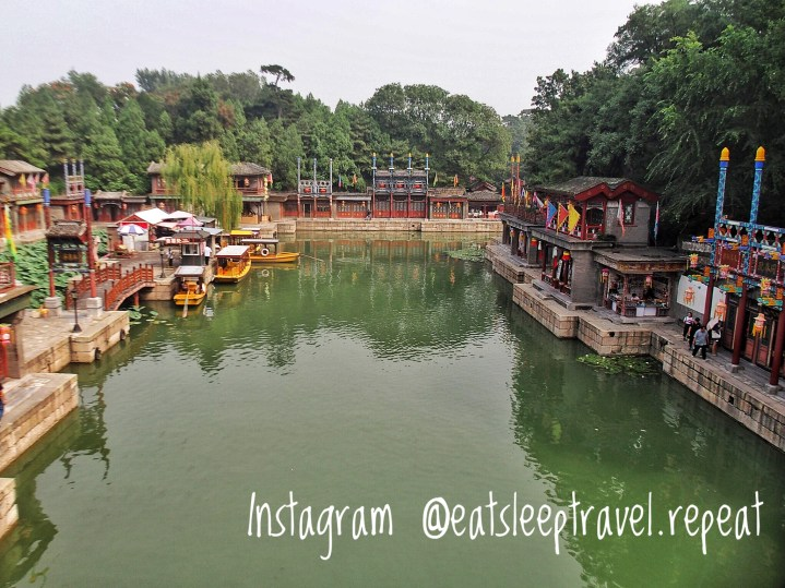 The moat surrounded the Summer Palace