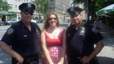 With the NYPD in 2008! Please excuse the bad outfit!