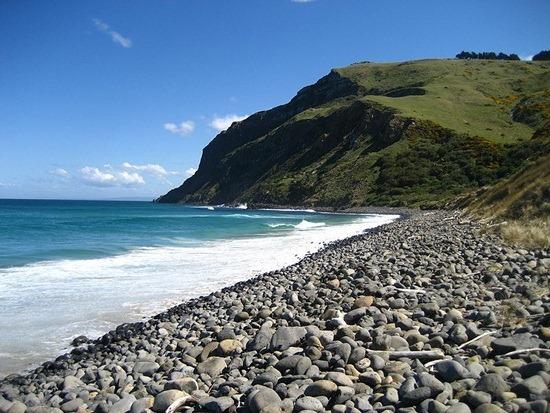 Boulder Beach in the Otago Peninsula, New Zealand