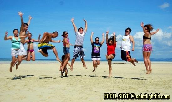 jumpshots at Nalusuan Island, Cebu