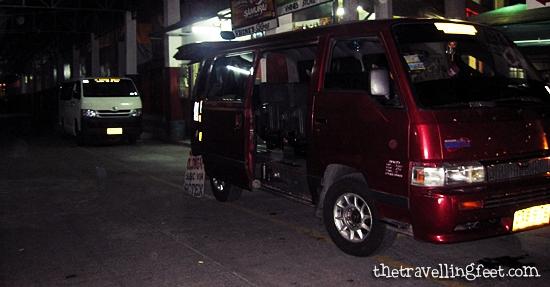 van at DAU Terminal going to Olongapo