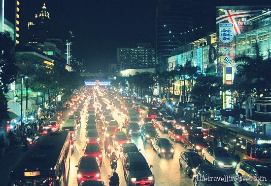rush hour traffic in Bangkok
