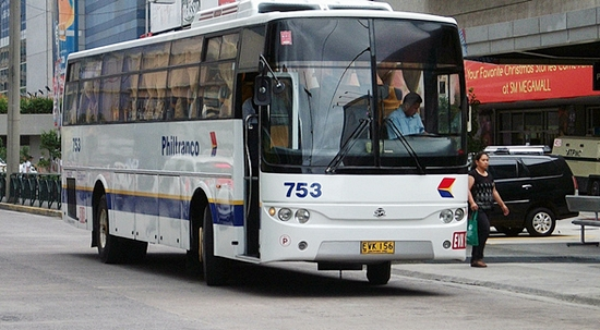 Philtranco bus at SM Megamall
