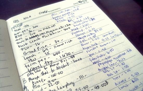 budget expense journal