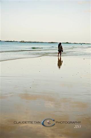 powder white sand beach of Boracay