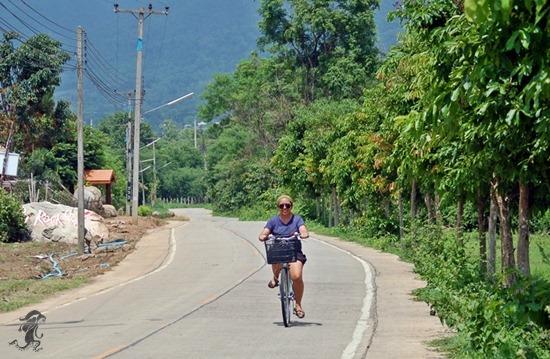 riding a bike in Pai