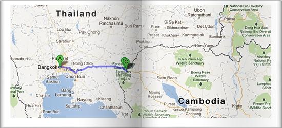 Crossing Borders: Thailand to Cambodia via Aranyaprathet to Poipet Border
