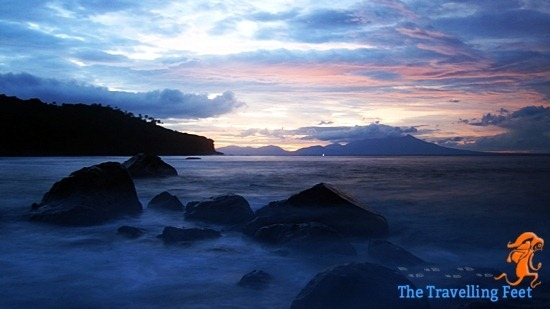 sunset at biri island