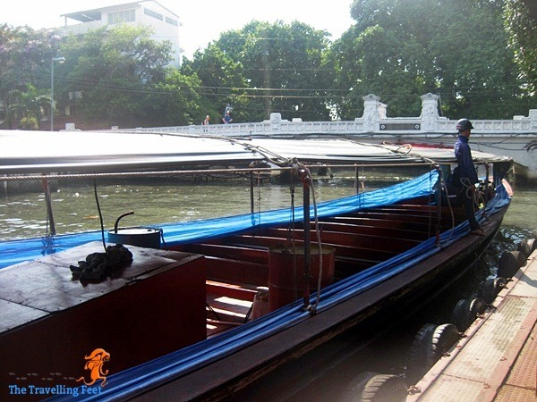arriving at the Phan Fah pier