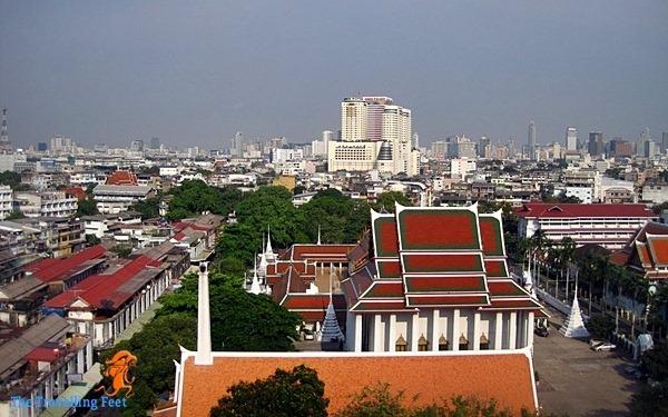 birds eye view of Bangkok