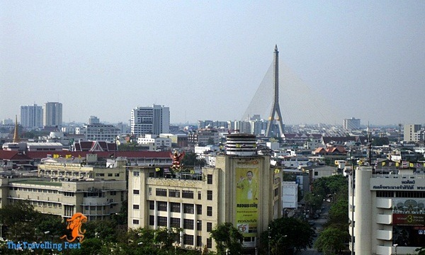 the Rama VIII Bridge from a distance