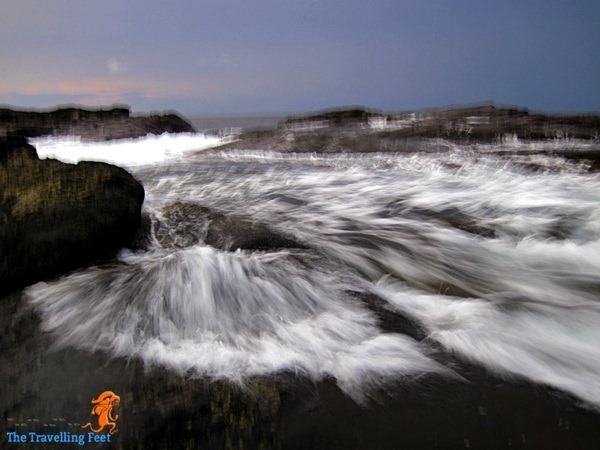rising tide at Biri rock formation