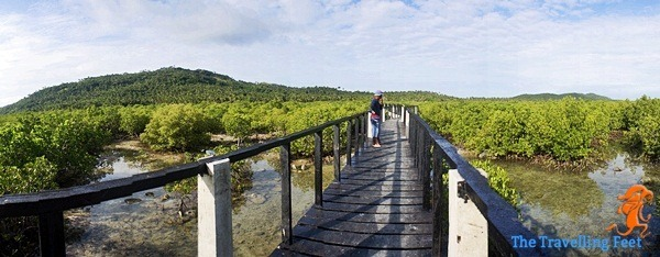biri island wooden bridge in bel-at