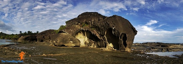 panoramic view of the Bel-at Rock Formation in Biri Island