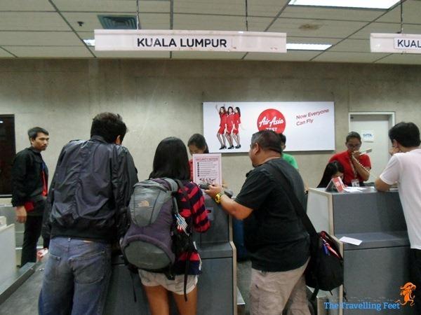Checking in at Mactan Airport to Cebu to KL flight via AirAsia