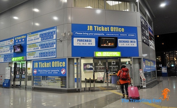 JR Ticket Office at the Kansai Airport