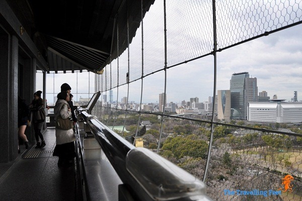 Osaka Castle viewing deck