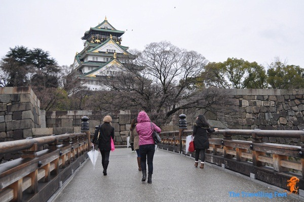 Osaka Castle bridge at the Aoya Gate entrance