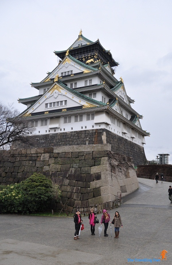 Osaka Castle in Osaka City, Japan