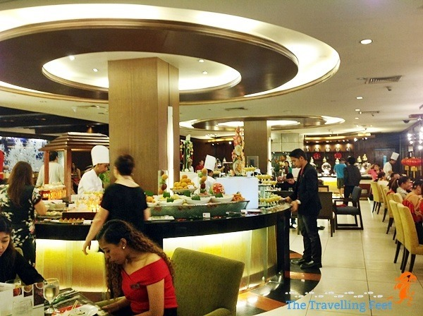 buffet spread at Manila Pavilion