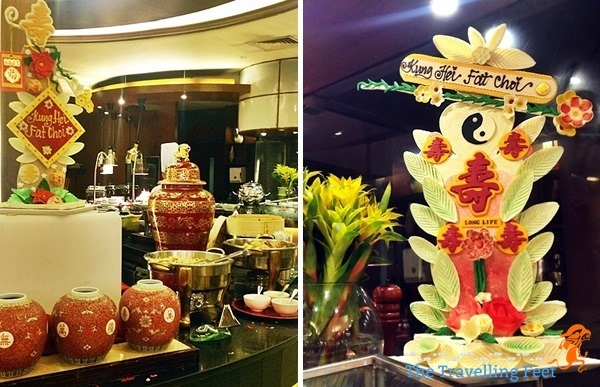 chinese new year fruit sculpture